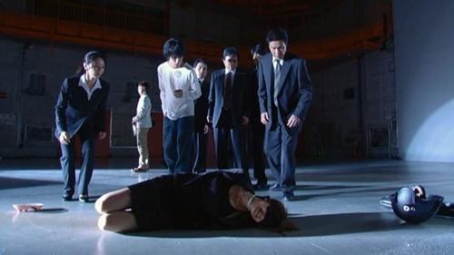 The Kira Investigation Team with Kira #3, Kiyomi Takada.