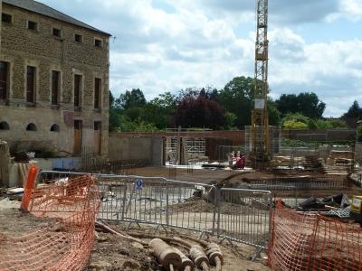 First Wall Built at Old Gaol Abingdon