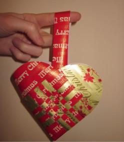 Paper heart basket crafts