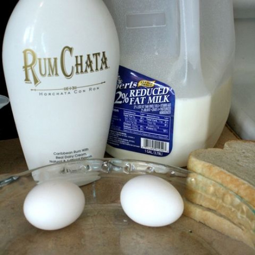Rumchata French Toast Step 1