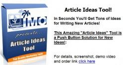 Produces article, essay ideas, etc. fast!