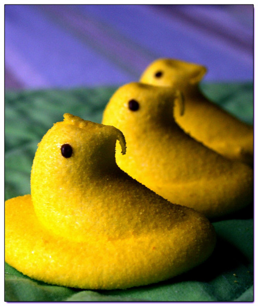 Holiday Easter Peeps were my subject, almost every month has a holiday, find one and document the flavor.