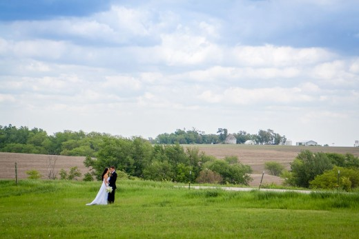 The Nebraska sky and scenery made the perfect backdrop for the wedding