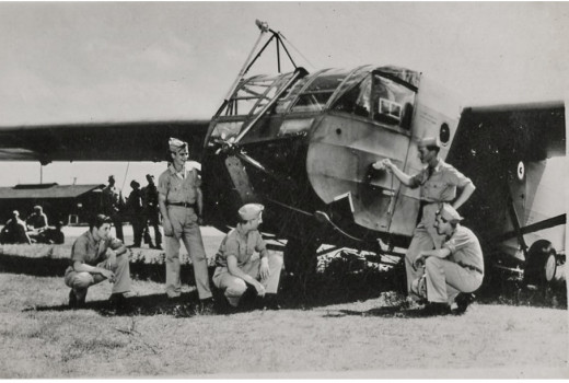 My Dad is actually inside the WWII glider, at least that's what he wrote on the back of the photo.