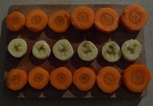 Carrot and Banana Healthy Nibbles
