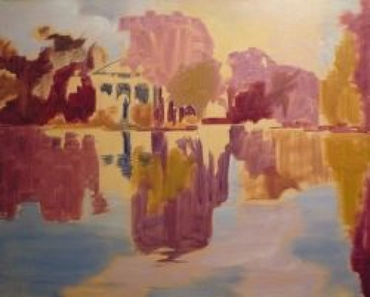 Under- painting of Reflections of the Past