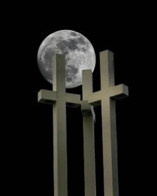 Moon and Three Crosses