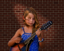 Girl With Mandolin