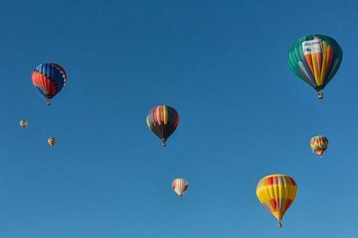 A sky full of balloons