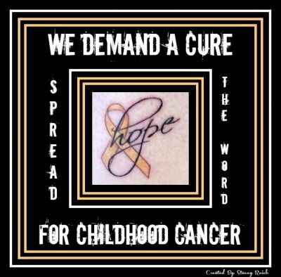 We Demand A Cure For Childhood Cancer!