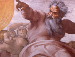 Detail of Michelangelo's Sistine Chapel