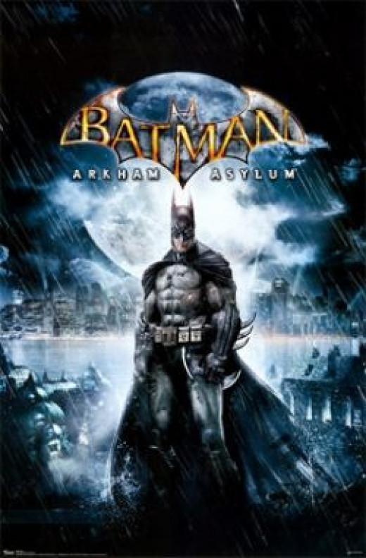 Batman Arkham Asylum Video Game Cover