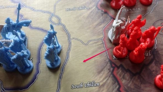 Sauron moves an army with a leader (a Nazgul) into South Ithilien - towards Gondor