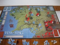 War Of The Ring board near beginning