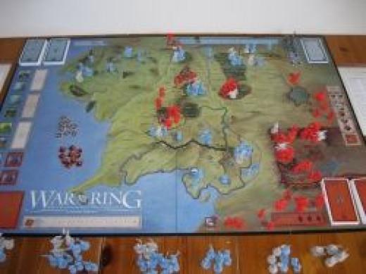 War Of The Ring board near beginning