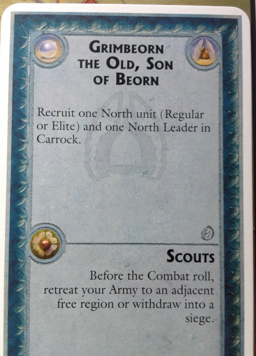 Scouts Combat Card - allows to retreat or withdraw into a siege before combat dice are rolled.