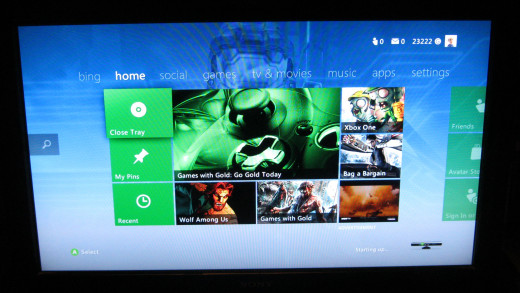 The Xbox dashboard - gateway to fun