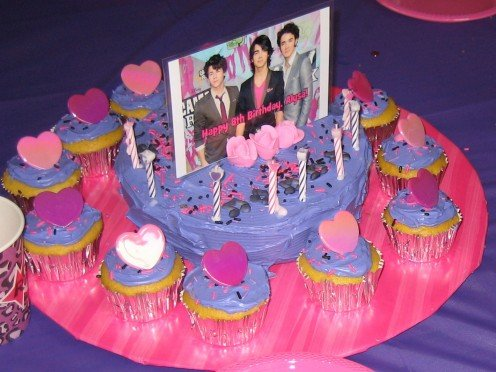 Jonas Brothers Cake & Cupcake Tray