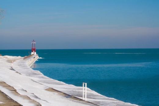Lake Michigan near Edgewater, north of Chicago
