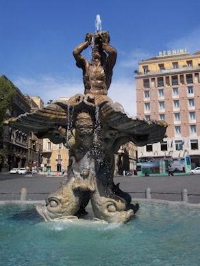 """Bernini """"Fontana del Tritone"""" c.1624-43 - Photo: mypotlpeople"""