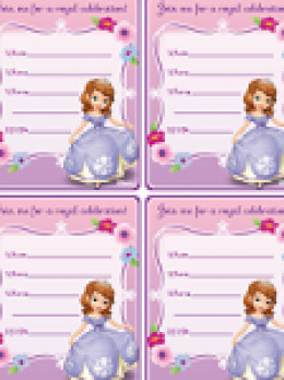 Sofia the First Free Invites
