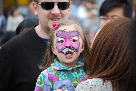 Japenese Cat Face Paint