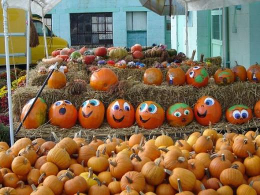 Painted pumpkins by R. N. Dominick, on Flickr