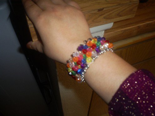 Multicolored bracelet created by Sweetiepie.