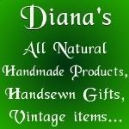 Diana's Gift Shop at 6177 Youngstown-Hubbard Road in Hubbard, Ohio and at OrganicGiftsByDiana.ecrater.com