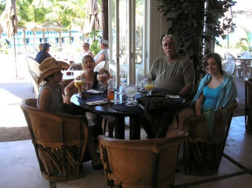 Restaurant where we had 3 smoothies and 2 marguerita's that cost $96.00, not including the tip!