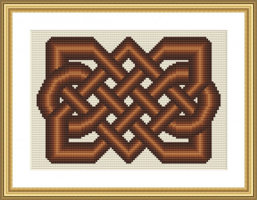 Picture Credit  'Chocoholics Knot' - designed by the author, faeriesong for celtic-cross-stitch.com