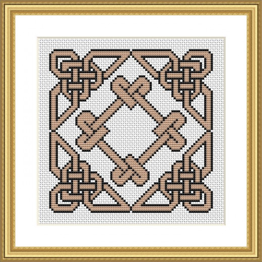 Picture Credit  'Harbour Rope Knot' - designed by the author, faeriesong for celtic-cross-stitch.com