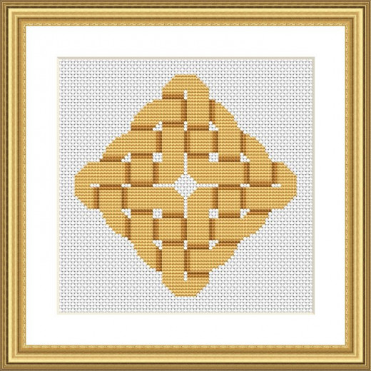 Picture Credit  'Rippled Sands Knot' - designed by the author, faeriesong for celtic-cross-stitch.com
