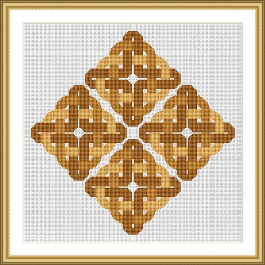 Picture Credit  'Summer Moorland Knot' - designed by the author, faeriesong for celtic-cross-stitch.com