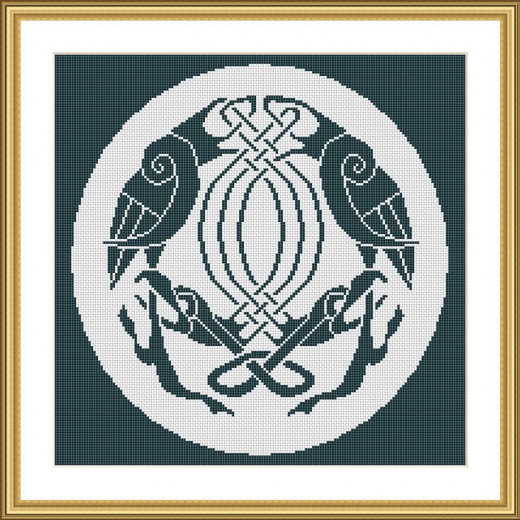 Picture Credit  'Entwined Birds' - designed by the author, faeriesong for celtic-cross-stitch.com