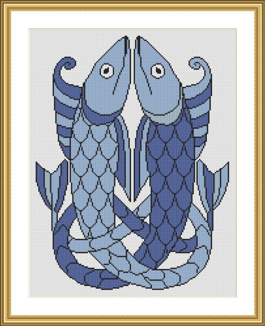 Picture Credit  'Pictish Fish' - designed by the author, faeriesong for celtic-cross-stitch.com
