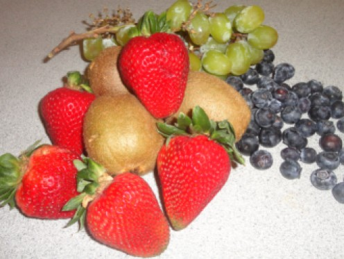Fresh fruit for the salad
