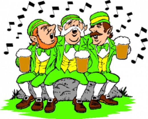 Leprechauns Celebrating Saint Patrick's Day