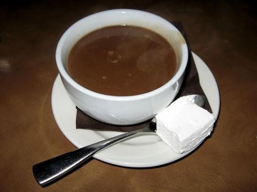 dark chocolate healthy benefit drink