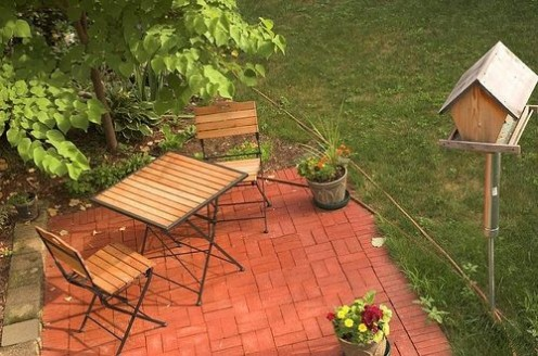 How to Build a Small Backyard Patio | HubPages on Small Backyard Brick Patio Ideas id=35653