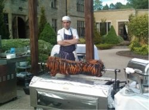 Spit roast wedding catering