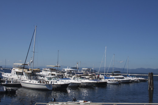 Boats on the Burlington Waterfront