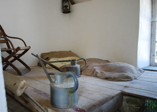 Recreation of one of the old worker's rooms.