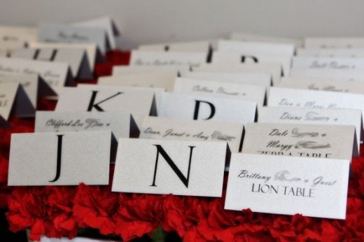 Table Place Card Presentation