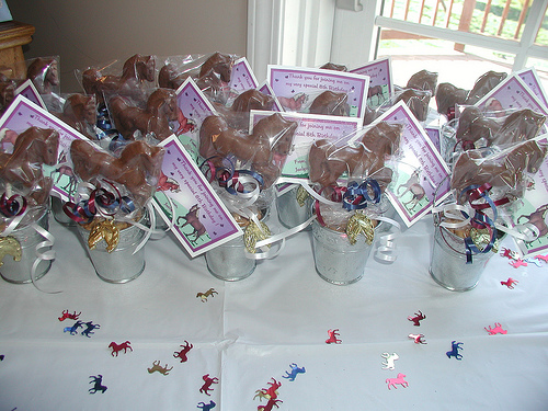 Chocolate lollipop favors for my daughter's Horse Theme Party.