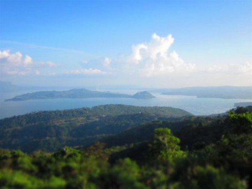 Landscape scene in Tagaytay, Philippines