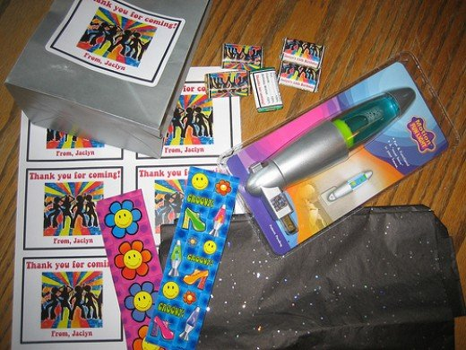 Party favors for my daughter's Disco Dance Party.