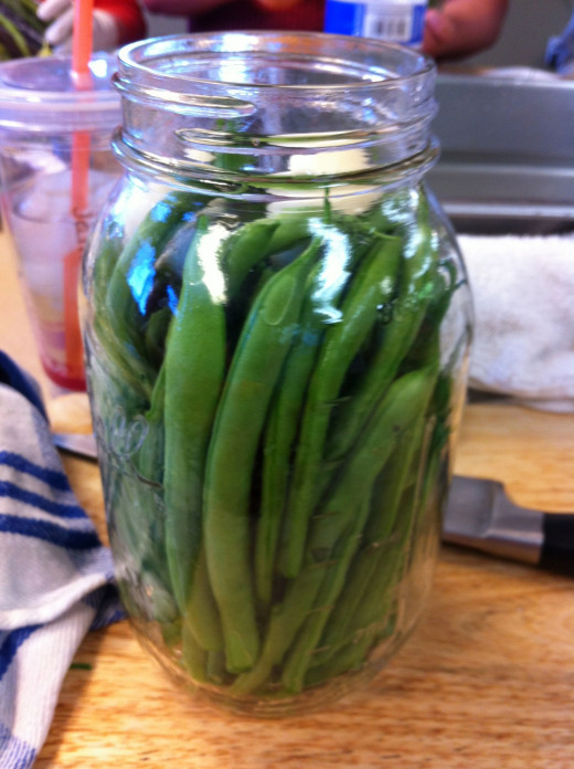 Canning green beans in July