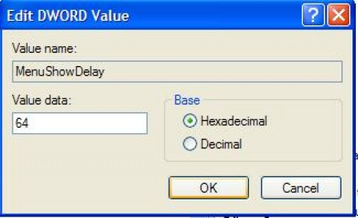 "Changing ""Value Data"" field value"