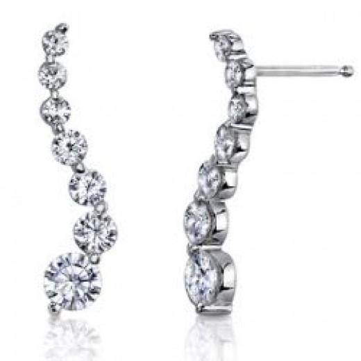 Moissanite S-Journey Earrings [ear495]